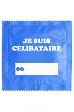 Préservatif humour - Je Suis Célibataire Bleu - Préservatif  Je Suis Célibataire Bleu, un préservatif personnalisé humoristique de qualité, fabriqué en France, marque Callvin.