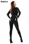 Combinaison latex Back-Zip - Combinaison intégrale en latex véritable.