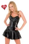 Robe Ballerine en latex - Une superbe robe courte à volants en latex de haute qualité.