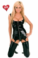 Robe gu�pi�re Zip latex - Robe gu�pi�re zipp�e en latex haute qualit�.