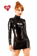Robe Midnight latex - Robe moulante manches longues, en latex haute qualité.