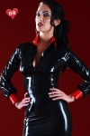 Chemisier latex Disciplinarian - Chemisier vintage en latex skin Two haute qualité, osez un look strict, mais toujours provocant.