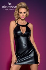 Robe Darksy - Robe noire brillante Obsessive issue de la collection Darksy.