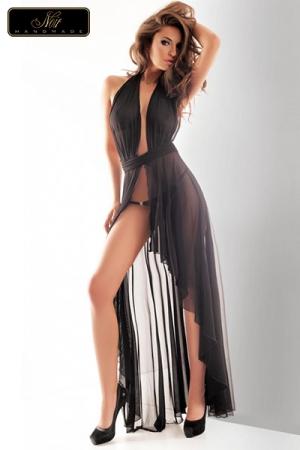 Robe longue Vestale - Robe longue en tulle, �l�gance et volupt� d'un drap� sensuel et �rotique.
