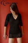 Robe Lana - Petite robe noire en lainage doux et sensuel: qui a dit que les frileuses ne peuvent pas �tre sexy ?