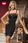 Robe moulante Amazing - Une robe sexy double effet : une silhouette de vamp ultra provocante devant, et un dos totalement offert sous la r�sille florale. Pour celles qui aiment s�duire, avec style !