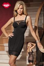 Robe moulante Amazing : Une robe sexy double effet : une silhouette de vamp ultra provocante devant, et un dos totalement offert sous la résille florale. Pour celles qui aiment séduire, avec style !