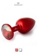 Rosebud Aluminium Red Medium - L'incontournable Rosebud Classique en version aluminium anodisé rouge.