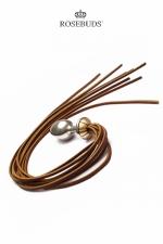 Rosebuds Whip Bud - Le Rosebud pour varier les plaisirs... à la fois un plug en métal et un martinet!