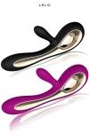 Vibro Soraya - Lelo - vibromasseur haut de gamme Lelo double actions aux capacités luxuriantes.