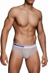 Slip MC088 gris - Slip gris à la coupe traditionnelle de la marque Espagnole de lingerie Masculine  Macho .
