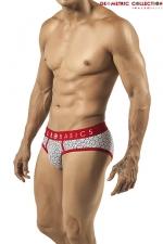Slip Byblos - Malebasics - Slip en coton extensible imprim� d'un motif g�om�trique chic et masculin.