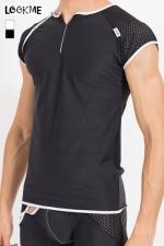 T-Shirt Mixing - Tee shirt pour homme en résille large et lycra, à combiner avec la gamme de lingerie Mixing pour un style parfait.
