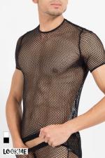 T-Shirt Hook - Tee-shirt sexy à large résille, pour exhiber vos muscles avec style !