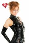 Top Jessica vinyle - Un décolleté lacé au fort pouvoir d'attraction.