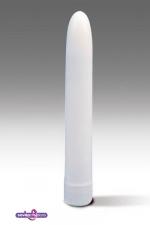 Vibromasseur lisse blanc - Vibromasseur simple pour une première expérience en solo ou accompagner vos ébats.