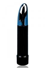 Vibro multispeed : Vibromasseur multi vitesses noir et argent.