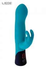Rabbit rechargeable ocean - Liebe - Vibromasseur haute qualité en silicone de qualité médicale avec double stimulation simultanée du clitoris et du vagin, marque Liebe.