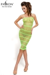 Robe résille BS033 - Vert - Faites-vous remarquer dans cette petite robe résille à bretelles vert flashy.